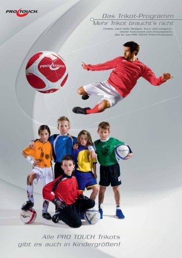 Das Trikot-Programm Alle PRO TOUCH Trikots gibt ... - Sport Freppan