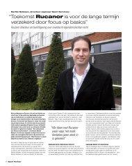 """"""" Toekomst Rucanor is voor de lange termijn ... - Sport Partner"""