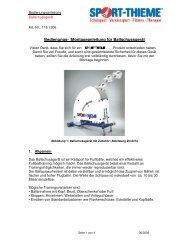 Bedienungs- /Montageanleitung für ... - Sport-Thieme CH