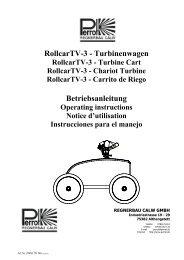 RollcarTV-3 - Turbinenwagen Betriebsanleitung - Sport-Thieme