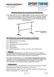 Montageanleitung für die freistehende Ballettstange - Sport-Thieme AT