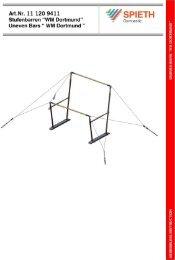 Aufbauanleitung - Sport-Thieme CH