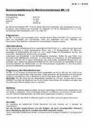 Bedienungsanleitung für Membrankompressor ... - Sport-Thieme CH