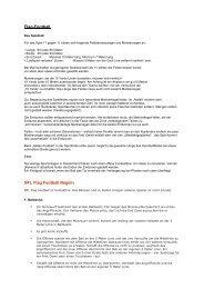 Flag-Football NFL Flag Football Regeln - Sport-Thieme AT