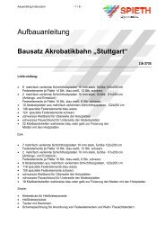 "Bausatz Akrobatikbahn ""Stuttgart"" - Sport-Thieme AT"