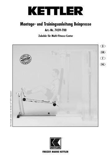 Kettler® Beinpresse für Multi-Fitness-Center - Sport-Thieme