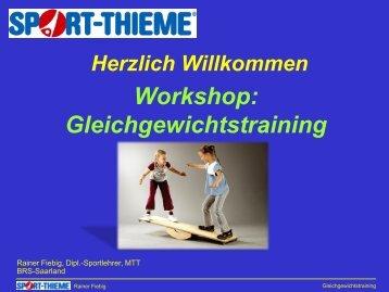 Workshop Gleichgewichtstraining - Sport-Thieme