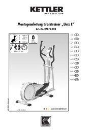 "Montageanleitung Crosstrainer ""Unix E"" - Sport-Thieme"