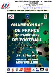 Championnat de France Universitaire de Football 2011