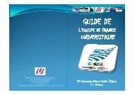Le guide de l'équipe de France universitaire - Fédération Française ...