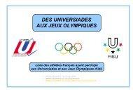 Des Universiades aux Jeux olympiques d'été
