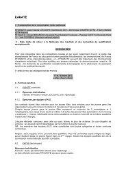 KARATE - COMITE REGIONAL DU SPORT UNIVERSITAIRE DE ...