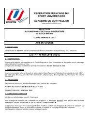federation francaise du sport universitaire academie de montpellier