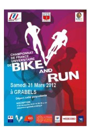 Dossier Championnats de France Universitaires de Bike and Run ...