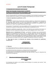 savate boxe française - Fédération Française du Sport Universitaire