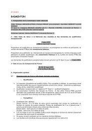 badminton - COMITE REGIONAL DU SPORT UNIVERSITAIRE DE ...