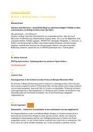 Freitag 21.06.2013 BLOCK 1: 09:00-10:30 Uhr – Theorie-Kurse