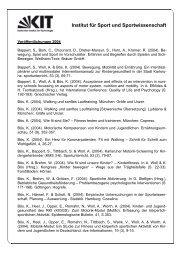 Jahr 2004 - Institut für Sport und Sportwissenschaft