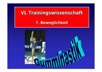 VL Trainingswissenschaft