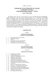 Lehramtsprüfungsordnung I – LPO I - Didaktik der Biologie