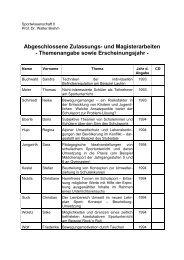 Abgeschlossene Zulassungs- und Magisterarbeiten ...