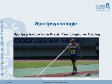Psychologisches Training