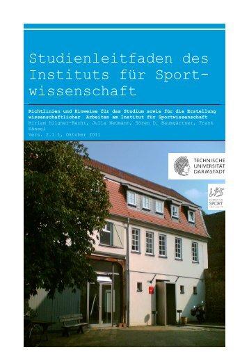 Studienleitfaden IfS TUD - Institut für Sportwissenschaften