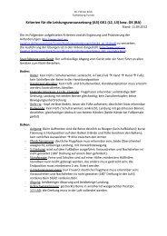 Kriterien für die Leistungsvoraussetzung (A3) GK1 (L2, L3) bzw. GK ...