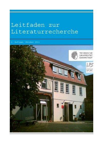 Leitfaden zur Literaturrecherche - Institut für Sportwissenschaft