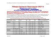 Prüfungsplan für die Praxisprüfungen Ende WS - Institut für ...