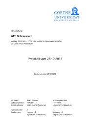 Protokolle Schneesport 1 - Institut für Sportwissenschaften - Goethe ...