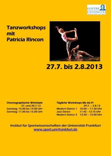 27.7. bis 2.8.2013 - Institut für Sportwissenschaften - Goethe ...