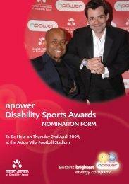 npower Disability Sports Awards - Sport Across Staffordshire