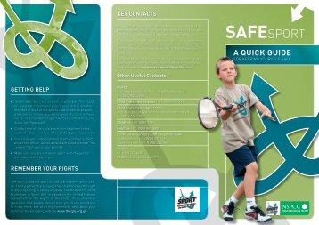 Safe Sport Leaflet - Child Protection Information for Young People