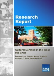 Cultural Demand in the West Midlands - Sport Across Staffordshire