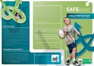 Child protection for Young People - Sport Across Staffordshire