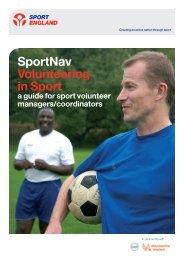 SportNav Volunteering in Sport - Sport Across Staffordshire