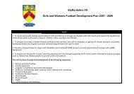 Template A Sports Development Planning. - Sport Across Staffordshire
