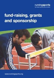 Fund-raising, Grants And Sponsorship - Sport and Recreation Alliance