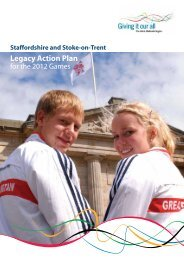 Legacy Action Plan for the 2012 Games - Sport Across Staffordshire