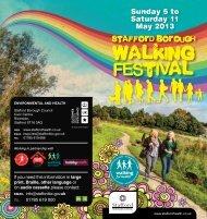 Walking Festival Information Booklet - Sport Across Staffordshire