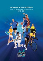 SASSOT Annual Report 2010 - 2011 - Sport Across Staffordshire