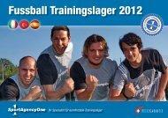Fussball Trainingslager 2012 - SportAgencyOne gmbh