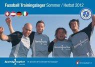 Fussball Trainingslager Sommer / Herbst 2012 - SportAgencyOne ...