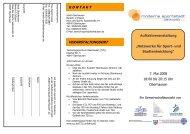 Flyer Auftakt Moderne Sportstadt - Sportalis
