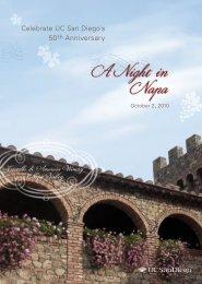 View Invitation (pdf) - UCSD Alumni - UC San Diego