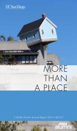 2011-2012 Annual Report (PDF) - UCSD Alumni - UC San Diego