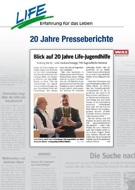 20 Jahre Presseberichte