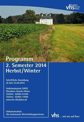 VHS Programm 2014 II