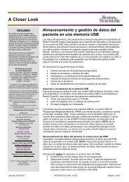 Almacenamiento y gestión de datos del paciente ... - Boston Scientific